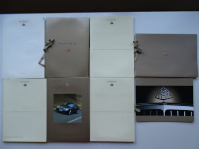 2003 - 2008  - MAYBACH 57, 57S, 62 & Landaulet - Mixed lot of 8 press information kits & sales brochures