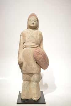 Northern Wei dynastie dignitary - Guard with Shield    - Size 240 mm