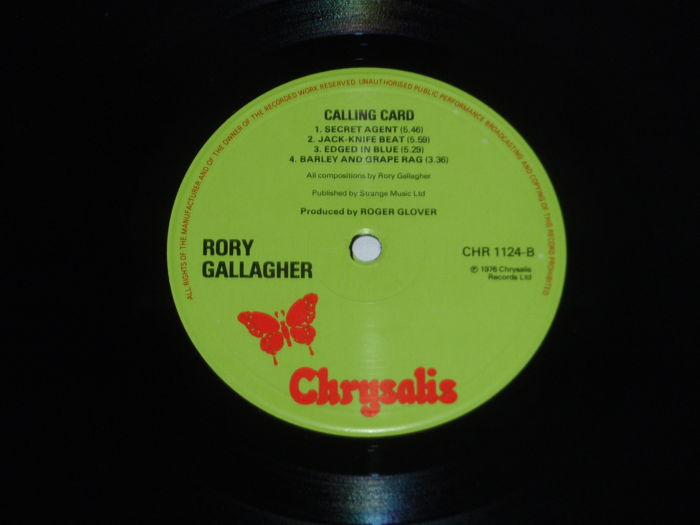 Rory gallagher a super collection of three original lps live in rory gallagher a super collection of three original lps live in europe blueprint calling card malvernweather Image collections