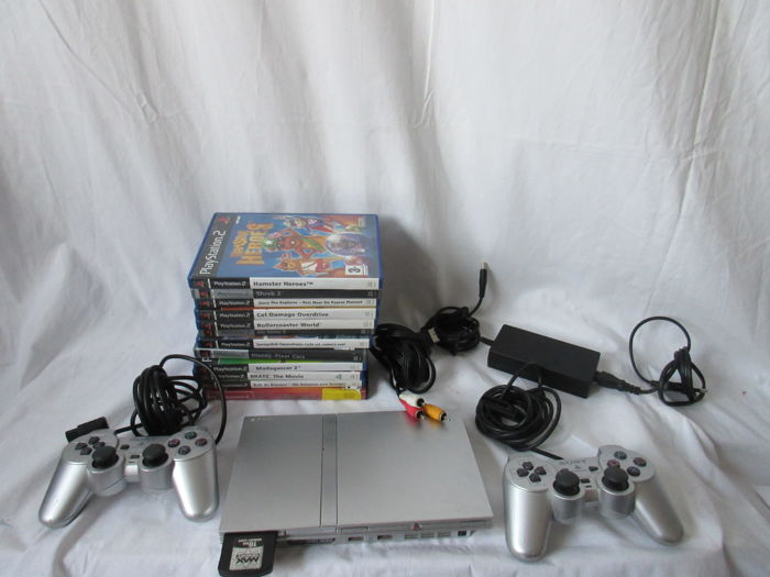 Sony Playstation 2 Console with 12 PS2 Games