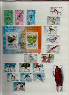Topical - Assortment of stamps on stock sheets and in ring binders