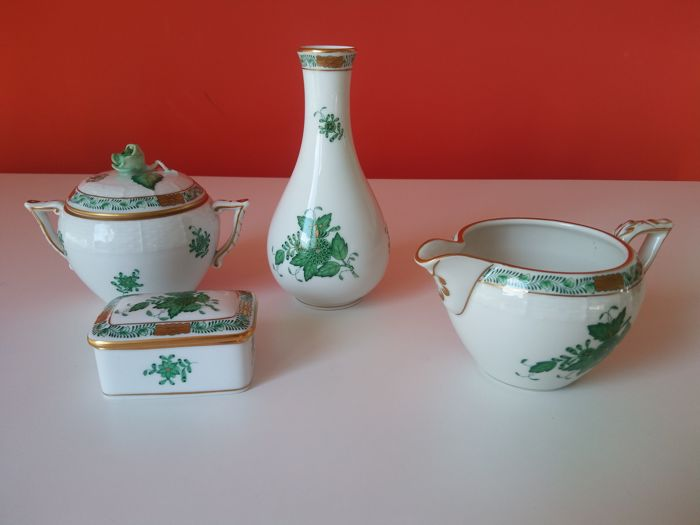 Herend - Green Leaf collection - (4 x)