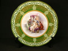 Limoges - Large decorative plate, finely decorated