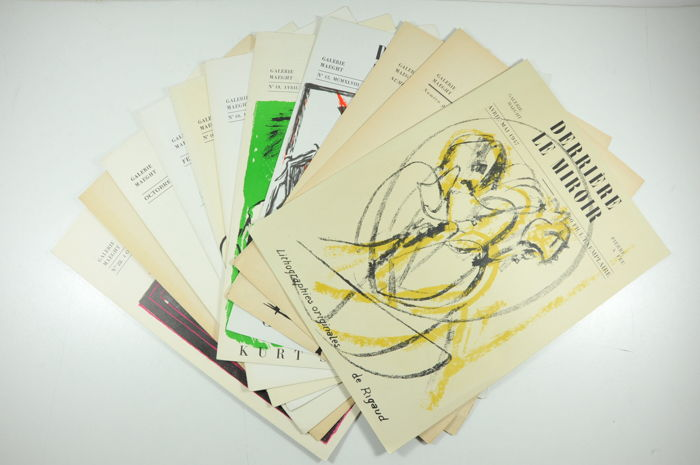Derrière le Miroir - Lot with 10 volumes -  1947 / 1949