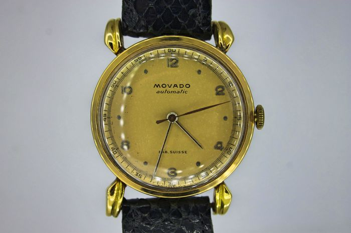 Movado - Automatic Bumper 18K Solid Gold Dress  - Heren - 1950-1959