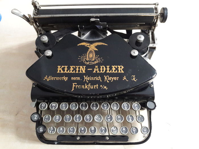 Typewriter KLEIN-ADLER 1, 1916, Germany, typewriter portable