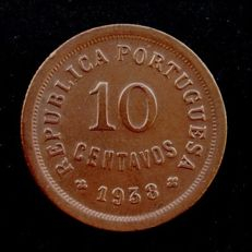Portugal Republic - 10 Centavos - 1938 - Bronze