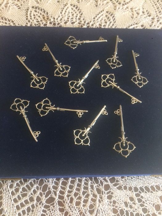 Collectible keys in 800 silver, numbered and marked - 1950s - Italy (11)