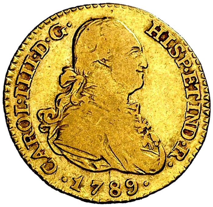Spain - Carlos IV (1788 - 1808), 1 escudo of gold - 1789 - Madrid MF