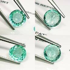2 PCs of Greenish Blue Apatite - 2.94 ct