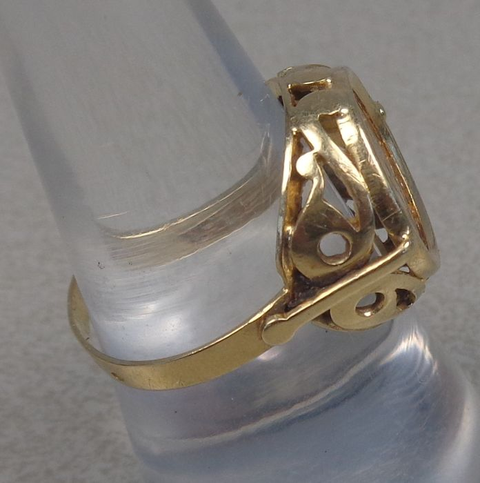 Gold Kennedy Coin Ring
