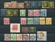Prussia 1850/1865 - Small collection including many interesting postmarks + 'Ganzsachenausschnitte'
