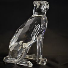 Swarovski Silver Crystal Cheetah - antique cut - only available in 1994
