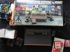 ATARI 2600 (2600 CX-AP) boxed + 2 games: Dig Dug & Millipede