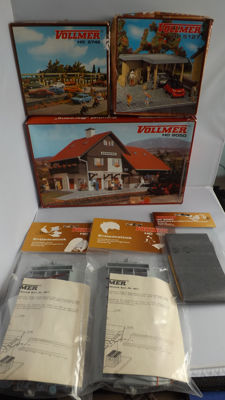 Vollmer H0 - 9050/5745/5127/6020/4011 - Scenery - Party Vollmer construction boxes and accessories