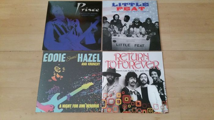 Fusion 4 Albums/5 Records made by; Return to Forever, Prince, Eddie Hazel, Little Feat.