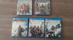 Serie of 5x  PS4 games - Assassin's Creed ( Dutch versions )