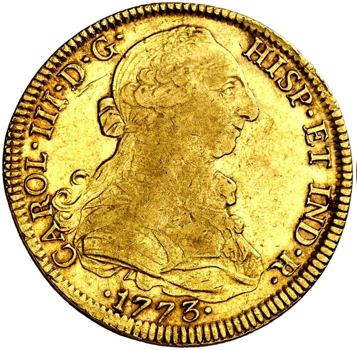 Spain - Charles III (1759–1788).  8 Escudos in gold - 1773 - Mexico FM