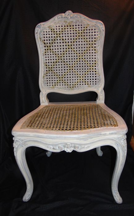 Chaise Louis XV Cannee Recusee Blanche