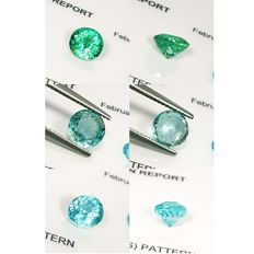 3 PCs of Greenish Blue Apatite - 4.48 ct