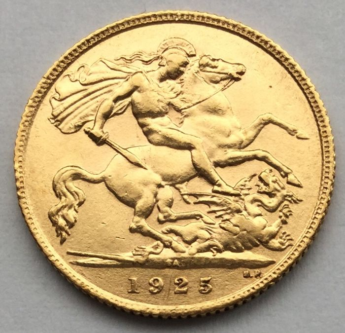 South Africa - 1/2 Sovereign 1925-SA George V - Gold