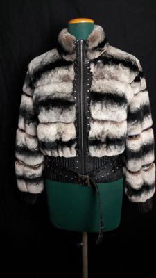 Giubbotto Bomber Rex Cincilla' - Fur coat