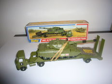 Dinky Toys # 616 AEC Artic transporter with Chieftain tank with camouflage net and missiles very rare