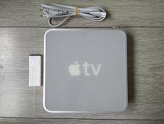 Apple TV 1st Gen 160GB - model A1218 / EMC 2132 - with power cable, original remote & TV Tray (to attach to back of TV)