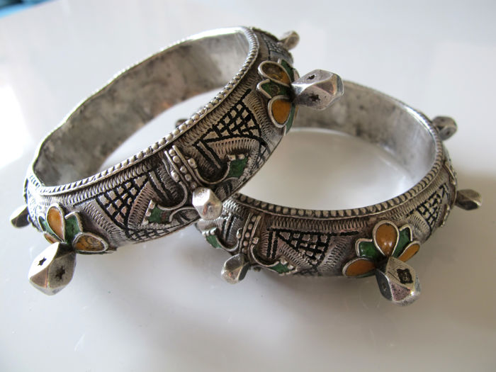 Set of two Berber bracelets, Morocco, Anti-Atlas - half 20th century