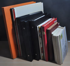 World Thematic - Batch with many different themes with series, stamps and blocks in various stock books and folders