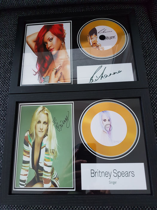 Rihanna & Britney Spears Framed CD's