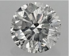 4.02 carat - SI2 clarity - E color - Round Brilliant Cut - UNTREATED - AIG certificate - Cert Number Engraved On Girdle.