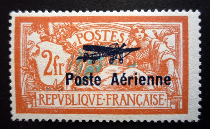 France 1927 – Air Mail signed Calves – Yvert PA nos. 1 and 2
