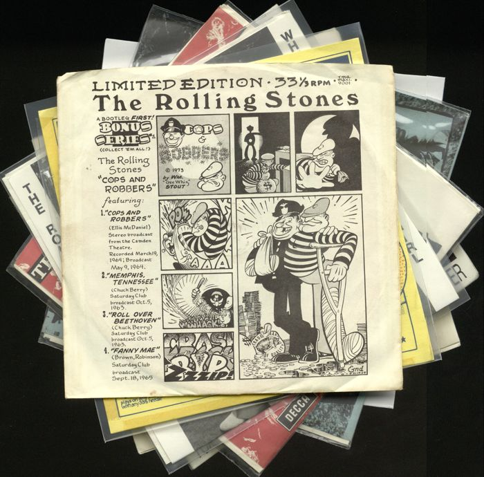 Lot of eight highly rare Rolling Stones singles - Limited and unofficial releases