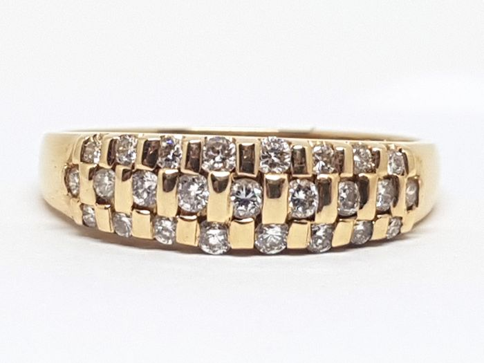14K Diamond Alliance Ring 0,70ct.