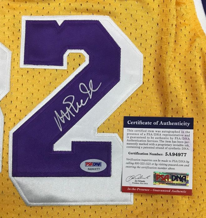 81b2e151059 Autographed Earvin Magic Johnson Los Angeles Lakers Adidas Jersey HOF with  PSA/DNA COA signed by NBA USA Hall of Fame.