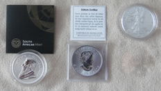 World - lot of 3 silver coins - 3 x 1 oz silver