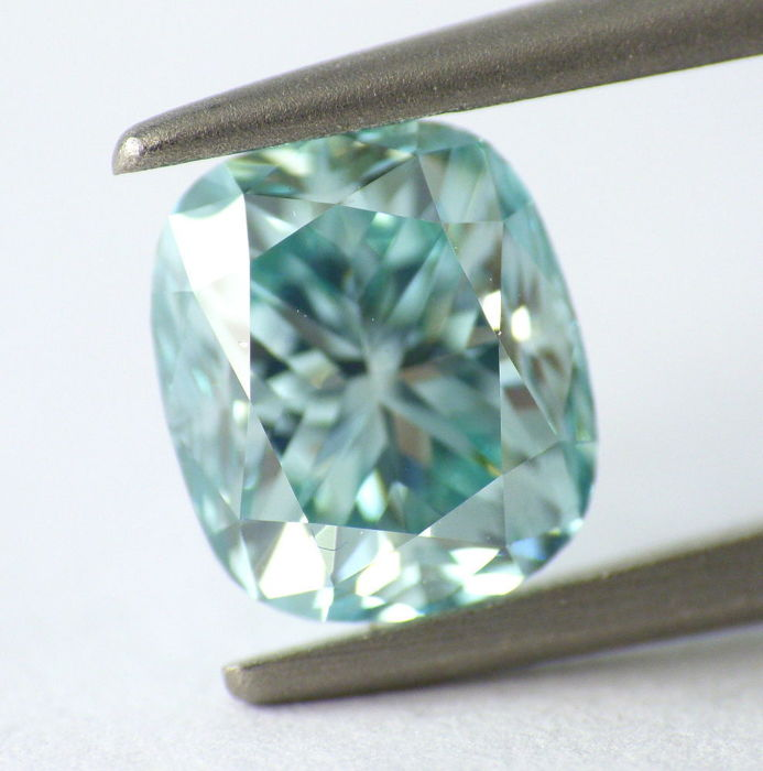 bluish intense diamonds diamond green teal natural oval jewelry fancy loose