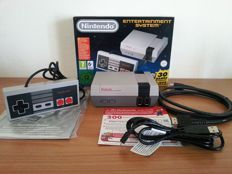 Original NES Nintendo Classic Mini with 30+ games installed with extra games + extra Official Nintendo Controller