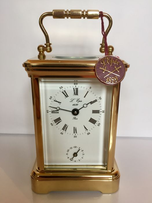 Luxury clock - travel - alarm clock - L'Epée brand, made in France, 1990s