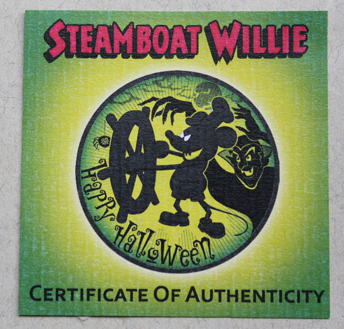Niue 2 Dollars 2017 Steamboat Willie Mickey Mouse Halloween