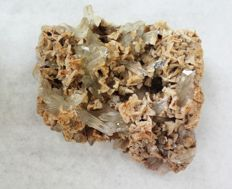 Rock Crystals with Orthoclase on matrix 70 x 70 x 25 mm - 135 g