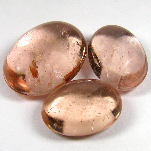 Lot of 3 Fine Quality Morganite - 14.5 To 18.4 mm 28.22 ct (3)