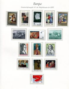 Europa Stamps 1975/1979 - collection with some sheetlets