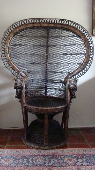 Manufacturer Unknown   Rattan Peacock Chair