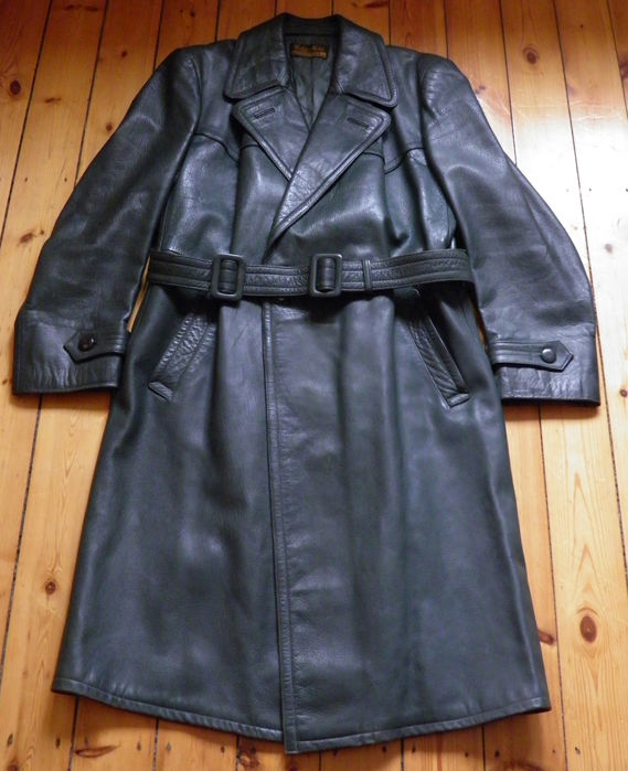 WW2 - Police Officer Leather Greatcoat