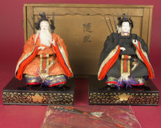 Lovely set of Ningyo Minister Dolls – Japan – approx. 1915 (Taisho period)