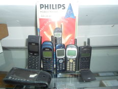 single lot of with 6 vintage mobile phones not tested