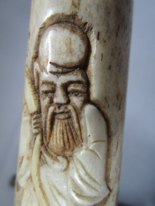 China Old Opium Pipe Carved From Bone 2nd Half Of The Catawiki