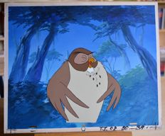 Disney Studio - Owl - Original Cell for animation - Winnie the Pooh (1980s)
